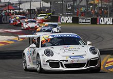 round 01 of the 2014 Porsche Carrera Cup